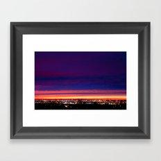 Yesterday's sunset Framed Art Print