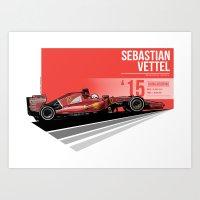 Sebastian Vettel - 2015 Hungaroring Art Print