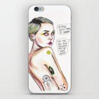 Satanist miley  iPhone & iPod Skin