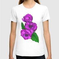 Peony Womens Fitted Tee White SMALL