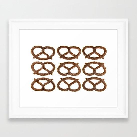 pretzel pattern Framed Art Print