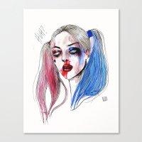 Margot as Harley quinn Fan art Canvas Print