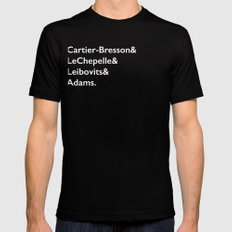 Cartier-Bresson & LeChepelle & Leibovits & Adams (The Photography Gods) SMALL Mens Fitted Tee Black