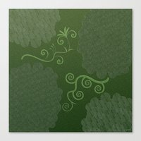 The Green Tapestry  Canvas Print