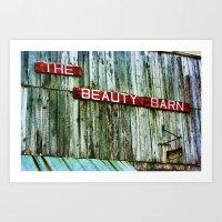 Beauty Barn Retro Art Print
