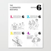 The Illuminated Mixtapes, Edition 6 Canvas Print