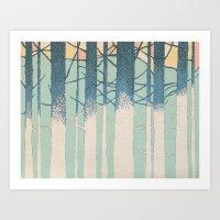 Fibonacci Trees Art Print