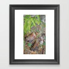 touch of green Framed Art Print