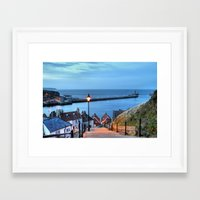 Whitby After Sun Down Framed Art Print