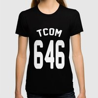 TCOM 646 AREA CODE JERSE… Womens Fitted Tee Black SMALL