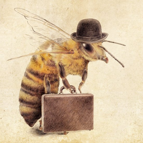 Worker Bee Art Print