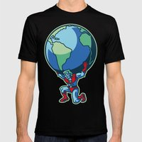 The Weight Of The World Mens Fitted Tee Black SMALL