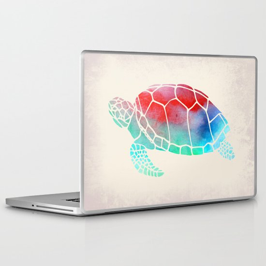 Watercolor Turtle Laptop & iPad Skin