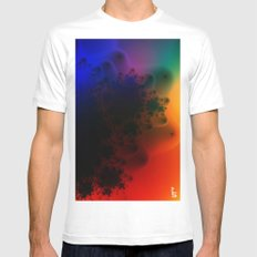 Aura Spectra II SMALL White Mens Fitted Tee