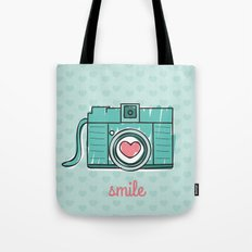 Green Smile Tote Bag