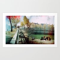 Paris in the Spring Time 2 Art Print