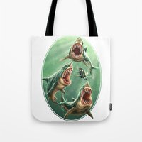 Great White Sharks #1 Tote Bag