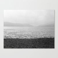 Mountains and the sea Canvas Print