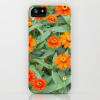 iPhone Cases featuring Fiery Flowerbed by Ann Horn