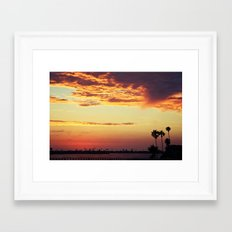 Goodbye sun Framed Art Print