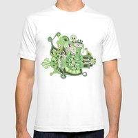 Reptilian Retina Mens Fitted Tee White SMALL