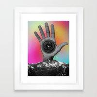 MOUNTAIN HAND Framed Art Print