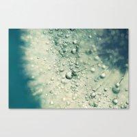 Denim Dandy Drops Canvas Print