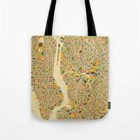 New York Map Tote Bag