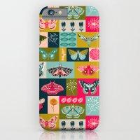 iPhone Cases featuring Lepidoptery tiles by Andrea Lauren  by Andrea Lauren Design