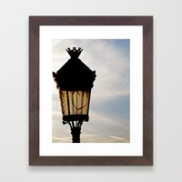 Happy Lamp Framed Art Print