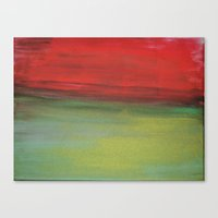 Colour plate - red and green Canvas Print