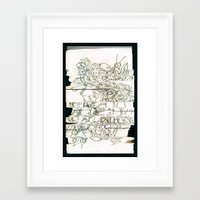 Autistic Remix #003 Framed Art Print