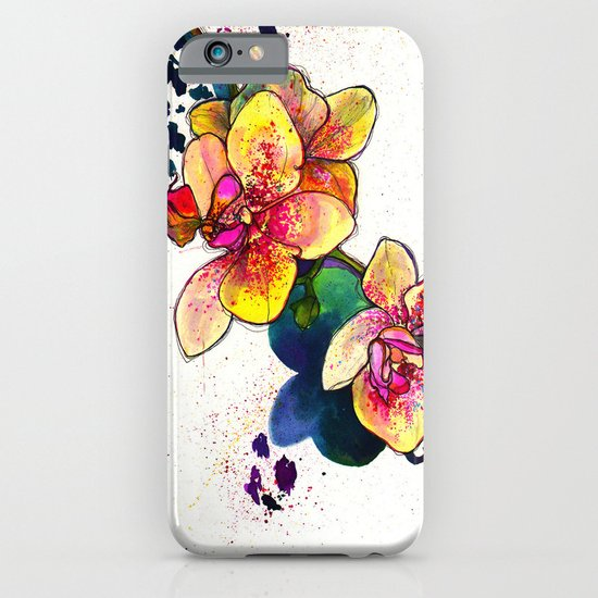 Inky Orchid iPhone & iPod Case
