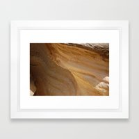 Red Wave Framed Art Print
