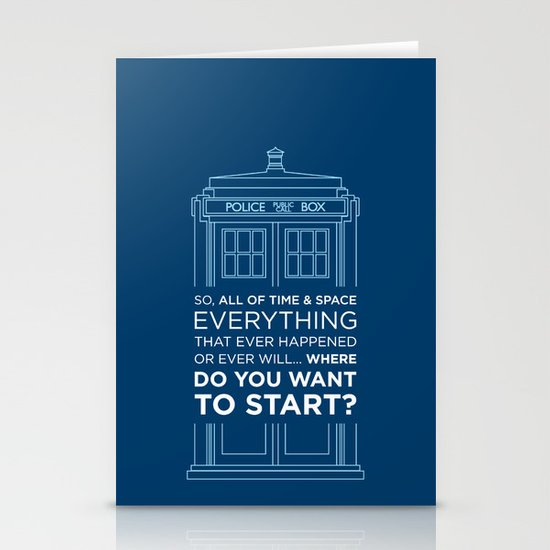 Doctor Who - TARDIS Where Do You Want to Start Stationery Card