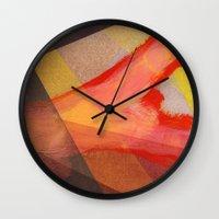 Orange flow Wall Clock
