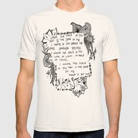 Namaste Doodle Mens Fitted Tee Natural SMALL