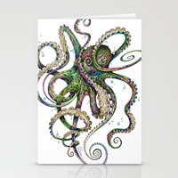 octopus Stationery Cards featuring Octopsychedelia by TAOJB