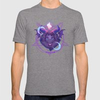 Baphomet (BLACK) Mens Fitted Tee Tri-Grey SMALL