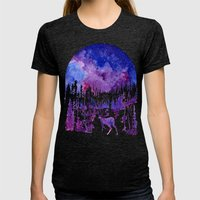 Starry Night Womens Fitted Tee Tri-Black SMALL