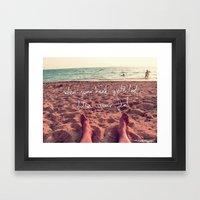 follow your feet Framed Art Print