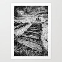 Storm - Ink Art Print