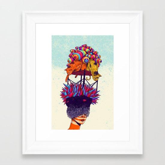 Full head Framed Art Print