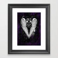 Punk Heart Framed Art Print