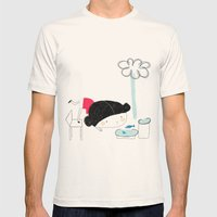 What the rain brings Mens Fitted Tee Natural SMALL