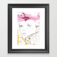 She speaks in bubbles Framed Art Print