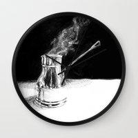 Arabic Coffee Wall Clock