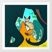 Bat-Eared Fox Art Print