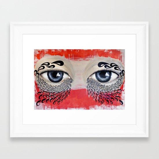Tears Flow Framed Art Print