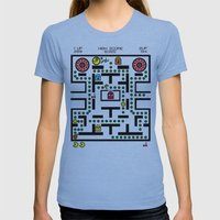 NeW PaCmAN Womens Fitted Tee Athletic Blue SMALL